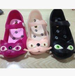 Jalea al por mayor de los gatos en Línea-Wholesale-sandalias de verano 2015 nuevos zapatos del agujero botón de las sandalias de la jalea cabeza de gato bebé gv989 infantiles