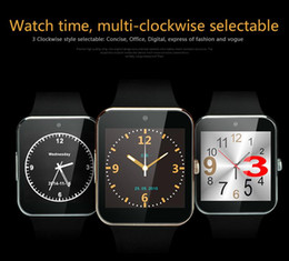 Wholesale 2016 Best Quality Android iPhone iwatch A8 GT08 Smart SIM Intelligent phone watch can be time record the sleep GT08 Smartwatch DHL