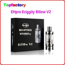Billow v2 en Ligne-L'arrivée de nouveaux EHpro Eciggity Bulow V2 RTA 5ML réservoir Bulow V2 RTA atomiseur 304 SS + verre Pyrex + POM remplacement bobine double Huge En Stock DHL gratuitement