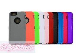Wholesale S3 Hybrid Silicon Case - 3 in 1 Robot Hybrid Rugged Impact Rubber Soft Silicon+PC Bulid in Screen Case for iPhone 6 plus 4 4S 5 5S Samsung GALAXY S3 S4 S5 S6 note 4