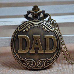 Wholesale Retro Bronze Men Stylish Special Design DAD Quartz Pocket Watch the Best Gift for Father s Day Mens Womens Watch Gift
