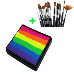 Wholesale Buy Together Cheaper Price g Neon Rainbow Face Paint Paint Brushes Professional Art Face Painting Body Paint Makeup