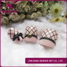 2015Beauty girl series black mesh design three-dimensional crystal flowers design nail art  fasle nails,hot chip matte nail tips