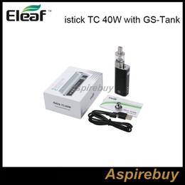 Wholesale In Stock Original iStick TC40W Box Mod with GS Tank Eleaf iStick w Kit Temperature Control Box Mod with GS Tank Best Matching Kit