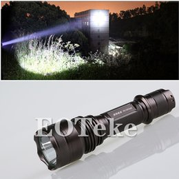Wholesale SupFire Cree X5 T6 Aircraft Aluminum Alloy Lumens Models Rechargable Battery Waterproof Super Durable Outdoor Bicycle LED Flashlights
