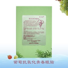 Wholesale 20 pairs Anti Puffiness Grape Antioxidant eye stickers vitamin k mask the best anti wrinkle eye mask