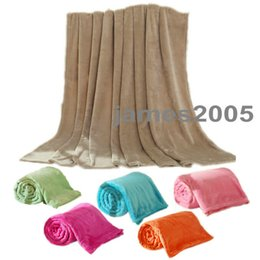 Wholesale Soft Warm Coral fleece velvet sheet throw blanket solid color home bed decoration King Queen Full size Multi colors