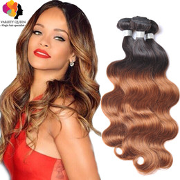 Descuento manojos 1b remy brasileño Extensiones de pelo Ombre Two Tone Blonde 1B / 30 1B / 27 Mejor 7A Brazilian Body Onda Virgen Remy Humanos Hair Weave Bundles Black Friday Deals