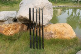 Descuento buena pesca Buena calidad 8-12m caña de pescar recta súper duros Varillas telescópicas súper duro girando aparejos de pesca equipo de pesca