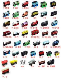 Wholesale 44 models Train Car Wooden Of Car Toys Train Toy wooden Train can choose style
