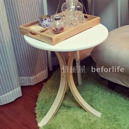 Wholesale IKEA shipping small coffee table round wooden table telephone table side table small dining table round table simple and stylish