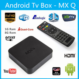 Wholesale USA Stock MXQ MXG MXS Support Online Update Kodi14 Install MX MXQ TV BOX Amlogic S805 Quad Core Android K Video Free Ship