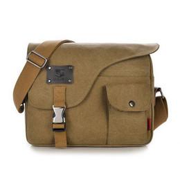 Canvas single shoulder bag messenger bag casual canvas business messenger bag Men's vintage messenger bag L4-22