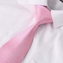 Tie Baby Pink Flame Plaid Man Hombre Arrow Krawatte Wide Woven Necktie