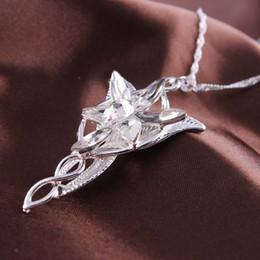 Wholesale 2015 Movie Jewelry Lord Of The Rings Hobbit Elves Princess Aragorn Arwen Evenstar Pendant Twilight Star Pendant