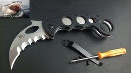 Wholesale theone great white shark Karambit Emerson wave shaped opening feature MM DIA Right and light clips