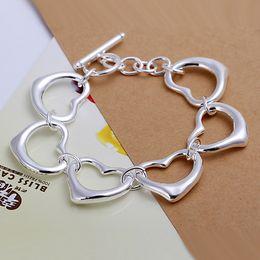 Hot sale best gift 925 silverSix Heart Bracelet DFMCH105, brand new fashion 925 sterling silver plated Chain link bracelets