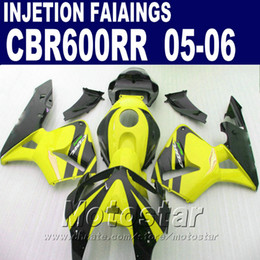 Black yellow one! Injection Molding for HONDA CBR 600 RR fairing 2005 2006 cbr600rr 05 06 cbr 600rr custom fairing YD3D