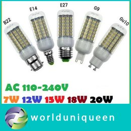 E27 E14 B22 GU10 G9 Ampoules Led Lighs 360 Angle 7W 12W 15W 18W smd5730 Lumières Led AC 110-240V ce ul csa 178049846 à partir de e27 ce smd fabricateur