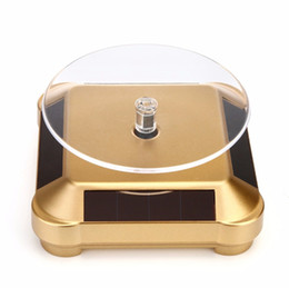 Solar Battery Dual Use Solar Showcase Solar Display stand Solar Turntable Rotary Display Stand for mobile phones mp4 watches jewelry