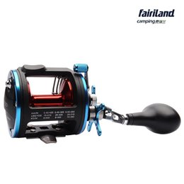 Wholesale 4BB RIGHT HAND Drum Trolling Reel Colors A Kg Drag Power Boat Fishing Reel Saltwater Freshwater w Comfortable TPR Knob