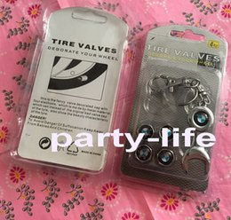 Wholesale Car styling Car covers Set Car Wheel Tires Valve Caps Tyre Stem Air Caps with Mini Wrench Keychain for BMW M Powder sets