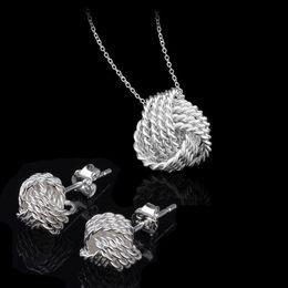 Fancy 925 Silver Jewelry Sets Women Wedding Jewelry Set Necklace Earrings 925 Sterling Silver Bridal Jewelry Set