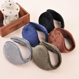 Wholesale Fashion Earmuffs Winter Warm Plush Cotton Blending Ear Muffs Men Women Warm Earmuffs Colors Cycling Running Walking Accessories Ear Muffs