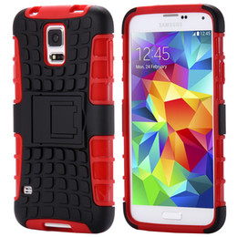 Wholesale-Top Quality Rugged TPU Plastic Hybrid Heavy Duty Armor Phones Case For Samsung Galaxy S5 I9600 SV Hard Proof Back Cover S5