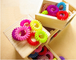 Hair Jewelry Hair Styling Telephone Cord Elastic Ponytail Holders Hair Ring Scrunchies Rubber Band Tie Ring Hair Seting Beauty Hair Tools