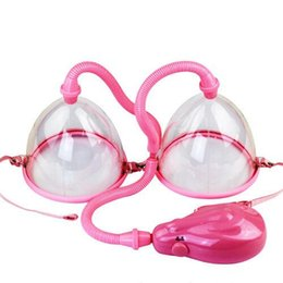 Electric Breast Enlarger Breast Enhancer Suction Pump Dual Cup Machine Enlargement Bust Massager Adult Sex Toys sex machine for women