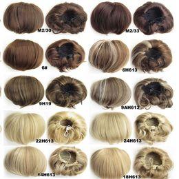 Wholesale 1PC Fast Shipping Synthetic Elastic Bride Hair Bun Wig Hair Chignon Roller Hepburn s Hairpieces Hair Synthetic Bun Toupee