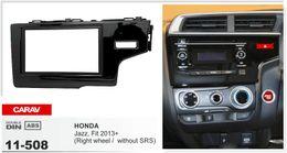 CARAV 11-508 Top Quality Radio Fascia for HONDA Fit, Jazz 2013+ (Right Wheel   without SRS) Fascia Dash CD Trim Installation Kit
