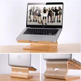 Wholesale Real Wood Laptop Stand Holder Notebook Radiator for Macbook Air Pro Retina Original Samdi Wooden Bracket