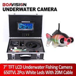 Wholesale 2015 New SONY CCD TVL Underwater Fishing Camera M ft Cable Fish Finder quot Digital Monitor Array White LED Night vision