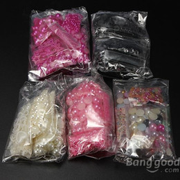 Wholesale-BottomPrice Nail Art Tips Cell Phone Mix Shape Pearl Beads DIY Decorations
