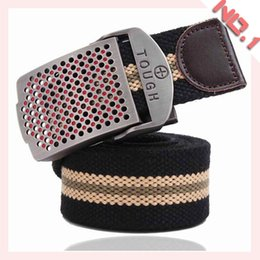 Fashion Belts For Men Classic Canvas Belt Design Alloy Buckle Belt Knit Canvas Waistband