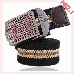 Fashion Belts For Men Classic Canvas Belt Design Alloy Buckle Belt Knit Canvas Waistband