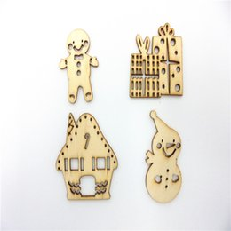 Wholesale 4 styles mixed fancy design mixed Wood Shapes Scrapbooking Wooden Veneers Embellishment DIY Craft items for art decoration and gift