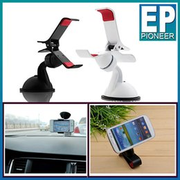 Wholesale For Iphone plus Universal Windshield Mount Car Rotating Degree Holder Bracket stand support Samsung HTC GPS tablet with retail package