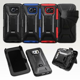 Wholesale X Style FullBody Protection Hybrid Heavy Duty Armor Case W Kickstand Rotating Belt Clip Holster Cover for Samsung Galaxy S6 Edge SGS6C33