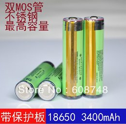 Wholesale 4pcs NCR18650B LI ION BATTERY mAh v NEW PROTECTION PCB for PANASONIC JAPAN