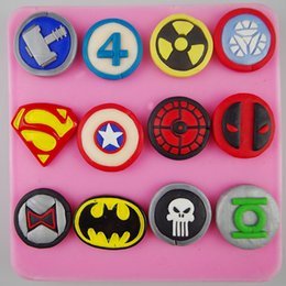 Wholesale Freeshipping The avengers alliance logo American hero logo cake decoration mold cookies mold clay mold