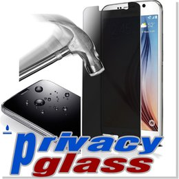 Wholesale Iphone plus Privacy Tempered Glass Note Screen Protector For Galaxy S6 Iphone Anti Spy Peeping With Retail Package DHL
