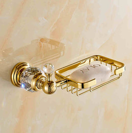 Wholesale Bathroom Accessories bathroom soap dishes with gold color finishing brand new