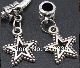 100pcs Fashion Vintage Silver Hollow Out Star Alloy Floating Locket Charms Pendants For Bracelet Necklace DIY Jewelry B336
