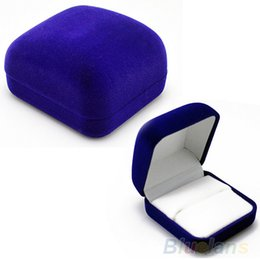 Wholesale-Fashion Blue Gift Box for Jewelry Watch Watch ring necklace earrings Jewelry Box 01ZV