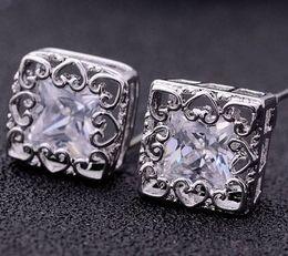 diamond crystal square lady's earings (xgspc)