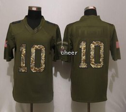 Promotion services de l'équipe 32 Équipes-Vente en gros 2015 saluer au service de gros hommes NYG # 10 Manning Salut vert au service limitée Maillots de Football Jerseys