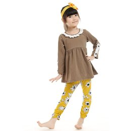 girls 2pcs set Rustic back to school shirt legging fall outfit long sleeve baby clothes girls back to school clothing